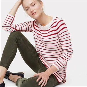 NWT loft red/white stripe sweater